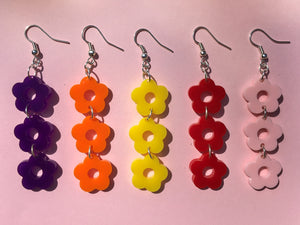 Three Tier Flower Hooks - 12 Colours Available
