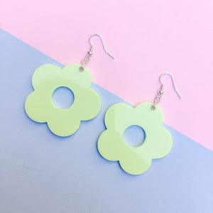 Flower Drop Studs - Available in 13 Colours