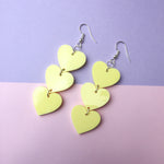 Load image into Gallery viewer, Three Tier Heart Hooks - Pastel Yellow