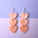 Load image into Gallery viewer, Three Tier Heart Hooks - Pastel Orange