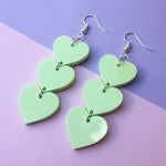 Load image into Gallery viewer, Three Tier Heart Hooks - Pastel Green