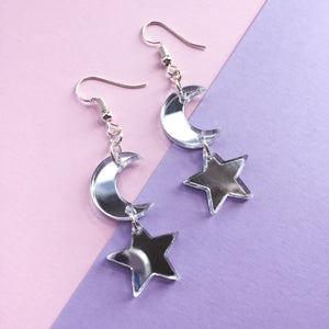 Moon and Star Hooks - Mirror