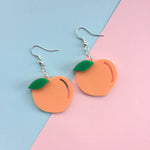 Load image into Gallery viewer, Peach Hook Earrings