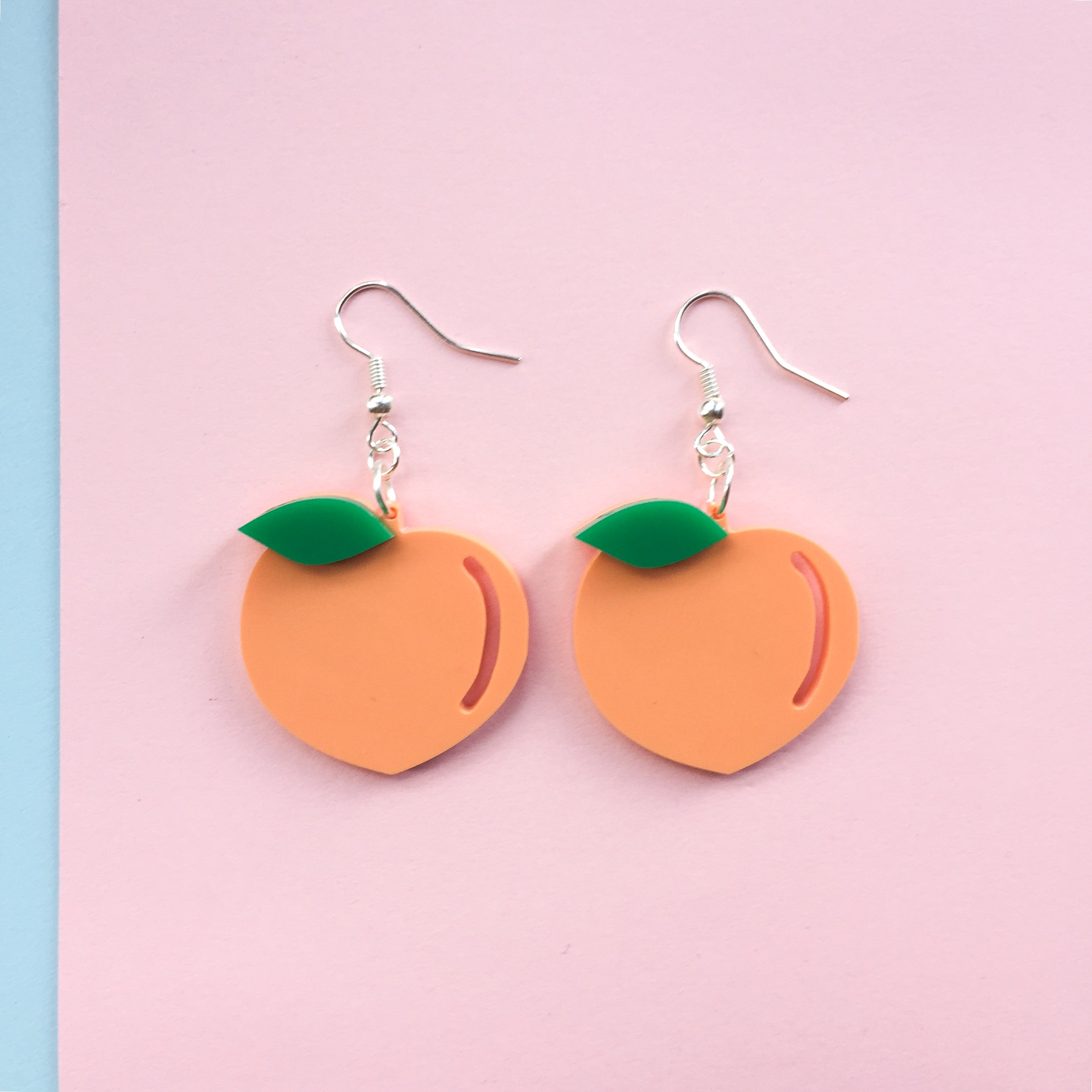 Peach Hook Earrings