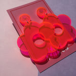 Load image into Gallery viewer, Flower Drop Studs - Neon Pink