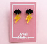 Load image into Gallery viewer, Mix and Match Cloud Stud Dangles - 3 Colours Available