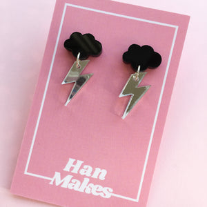Mix and Match Cloud Stud Dangles - 3 Colours Available
