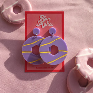 Party Ring Earrings - Lilac