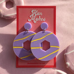 Load image into Gallery viewer, Party Ring Earrings - Lilac