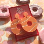 Load image into Gallery viewer, Party Ring Earrings - Pastel Orange