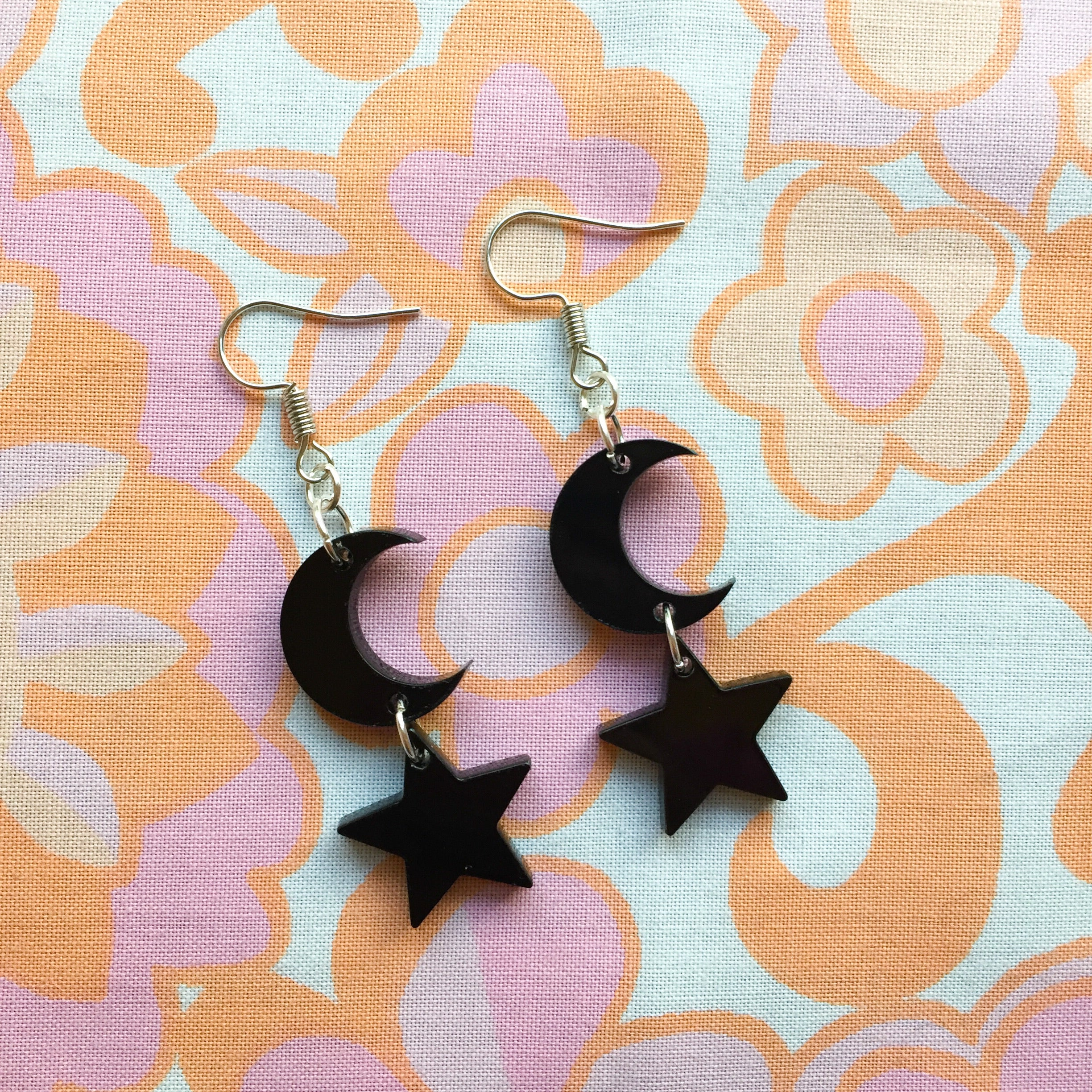 Moon and Star Hooks - Black