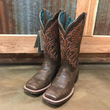 Ariat Circuit Crisco Kickin Brown Square Toe Boots