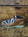 Men's Ariat Spitfire Wicker & Navy Aztec