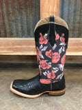 Women's Ariat Fonda Vintage Black Rose Boot