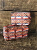 Red Aztec Large Cosmetic Bag by Justin 2067424S