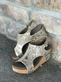 Corkys Carley Women's Taupe Metallic Shootie Wedge