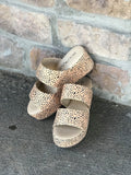 Corkys Shamrock Brown Speckled Womens Slide Wedge