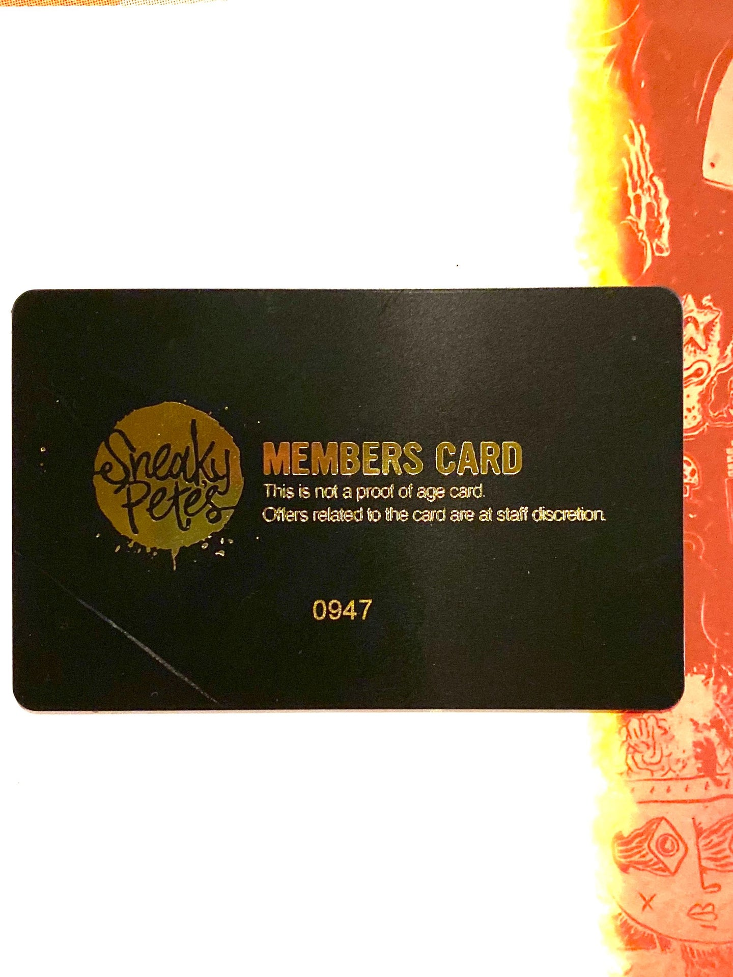 Sneaky Pete's Members Card + 20% extra points free