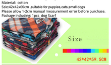 Load image into Gallery viewer, Cat Pet Dog Cotton Bandanas