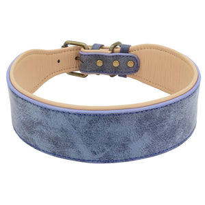 Wide Leather Dog Collar