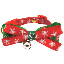 Load image into Gallery viewer, Christmas Pet Bow Tie Collar
