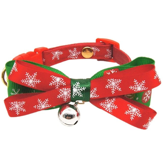 Christmas Pet Bow Tie Collar