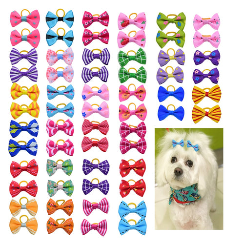 10/20/30pcs Dog Grooming Bows mix 30colours