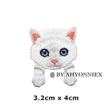 Load image into Gallery viewer, Cute White Black Cat Patch