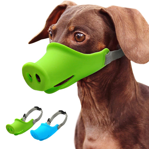 Cute Pig Dog Muzzle Silicone