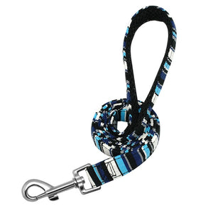 blue high quality dog leashes