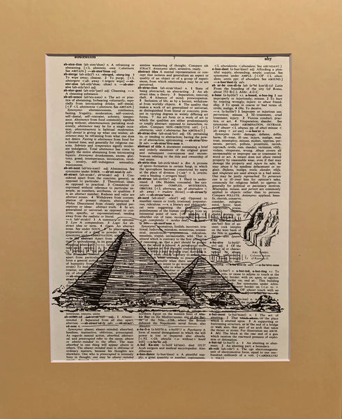 Vintage Dictionary Page Prints