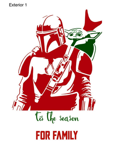 Mandalorian Inspired Holiday Cards