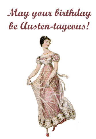 Jane Austen Birthday Card