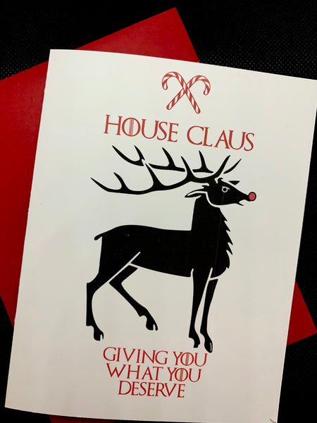 House Claus Holiday Cards