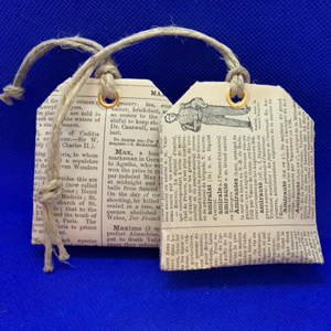 Lavender Tea Bag Book Page Sachets