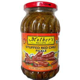 Mother's Recipe Stuffed Red Chilli Pickle 500g