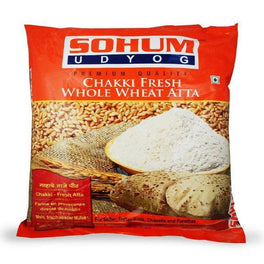 Sohum Chakki Fresh Whole Wheat  Atta 5 Kg