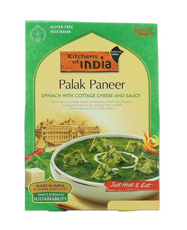 Kitchens Of India Palak Paneer (Spinach With Cottage Cheese And Sauce)