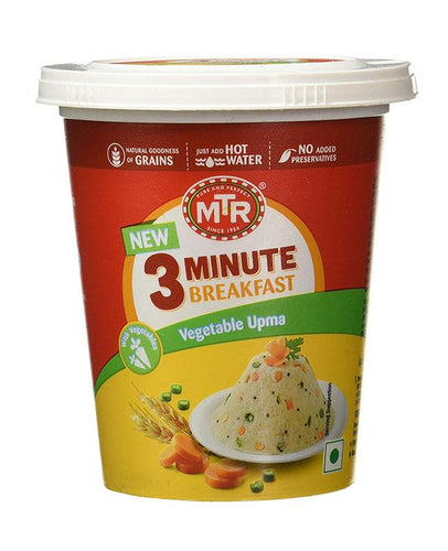 MTR 3 Minute Breakfast Cuppa Vegetable Upma 80g