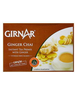 Girnar Ginger Chai - Instant Tea Premix With Ginger (14g X10)