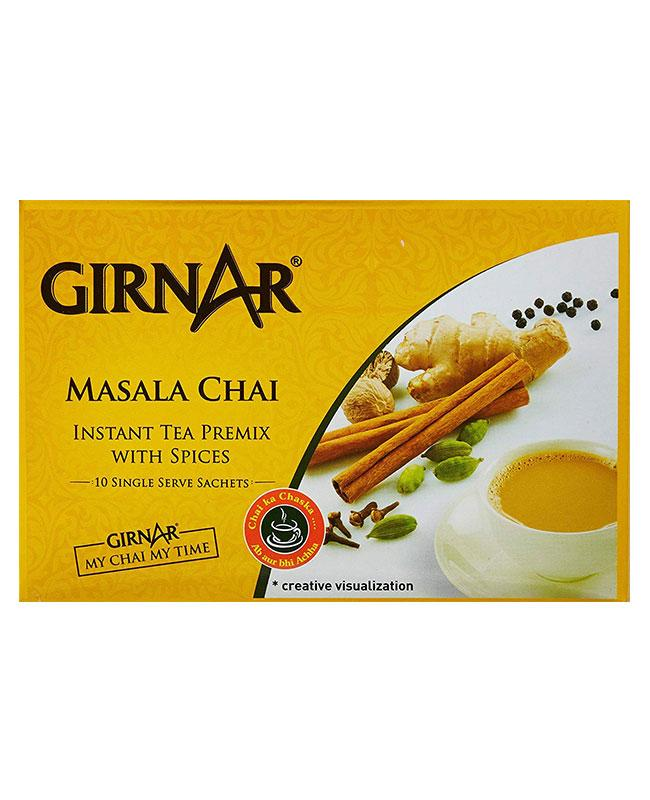 Girnar Masala Chai - Instant Tea Premix With Spices (14g X10)