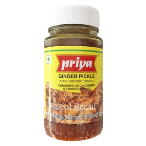Priya Ginger Pickle (Without Garlic) 300g