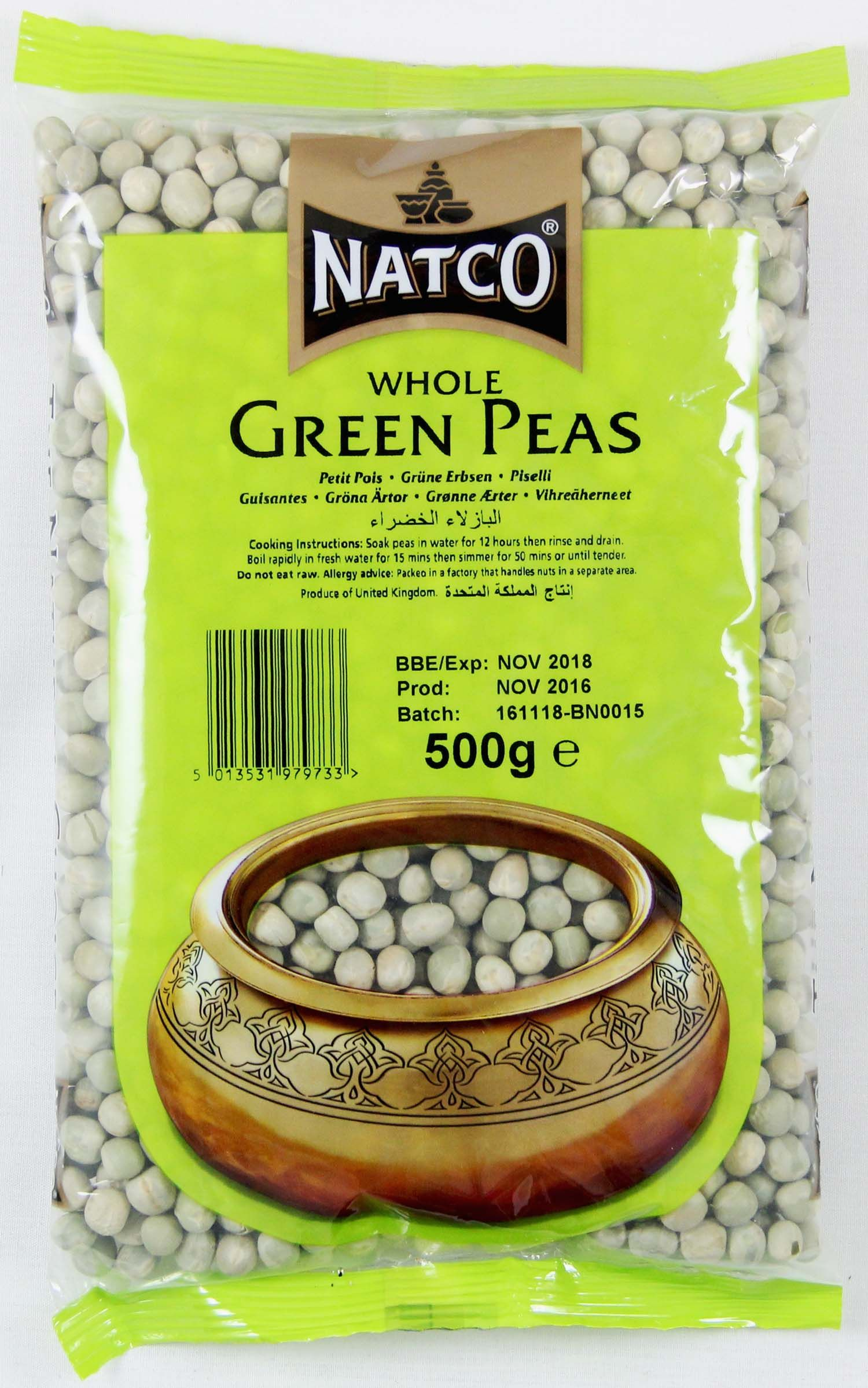 Natco Whole green Peas