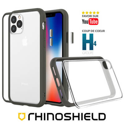 COQUE RHINOSHIELD MODULAIRE GRAPHITE IPHONE 11 PRO MAX