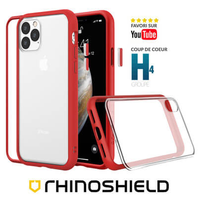 COQUE RHINOSHIELD MODULAIRE ROUGE IPHONE 11 PRO