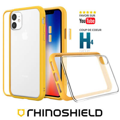 COQUE RHINOSHIELD MODULAIRE JAUNE IPHONE 11