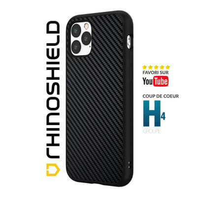 COQUE RHINOSHIELD CLASSIC FIBRE DE CARBONE IPHONE 11 PRO