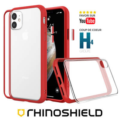 COQUE RHINOSHIELD MODULAIRE ROUGE IPHONE 11