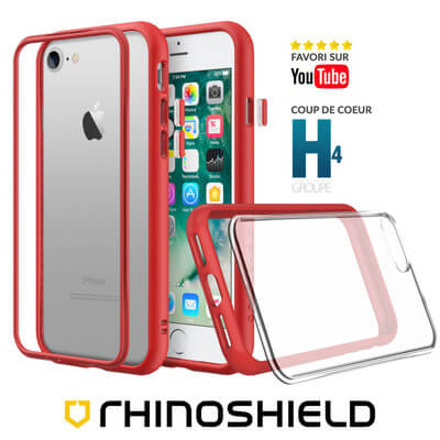 COQUE RHINOSHIELD MODULAIRE ROUGE IPHONE 8 PLUS