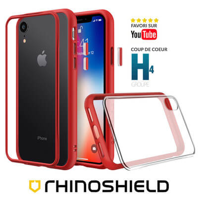 COQUE RHINOSHIELD MODULAIRE ROUGE IPHONE XR